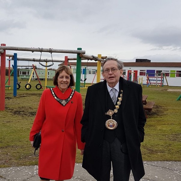 Salford Ceremonial Mayor and Mayoress visit us